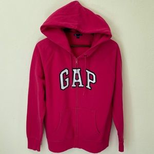 GAP | Hot Pink Classic Logo Zip Up Hoodie Sweater